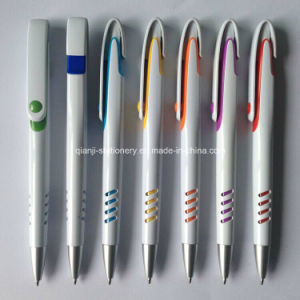 Pretty White Plastic Promotional Pen with Logo (P1001A) pictures & photos