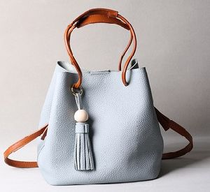 Leather Bucket Bag Designer Studded Ladies Weekend Handbag (LDO-01619) pictures & photos
