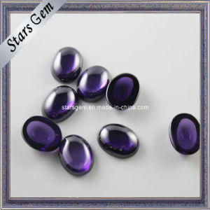 Purple Color Cabochon Oval Shape CZ Beads pictures & photos