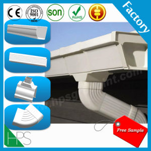 Black and White Two Colors Kenya Hot Sale PVC Rain Gutter pictures & photos