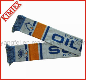 100% Acrylic Knitted Jacquard Fans Soccer Football Scarf pictures & photos