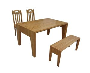 Bamboo Table with Stools (JD-FN085)