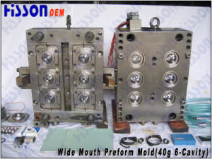 6-Cavity 40g Wide Mouth Jar Pet Preform Injection Mould pictures & photos