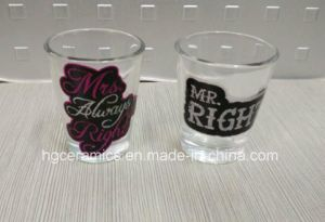 Shot Glass with Glitter Decal Printed