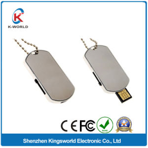 Simple Design Metal Sliding USB Flash