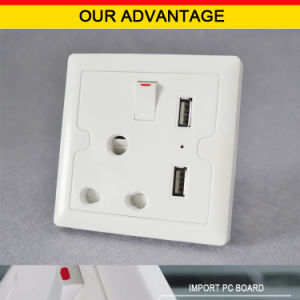 India Standard Dual USB Ports Electrical Socket Outlet