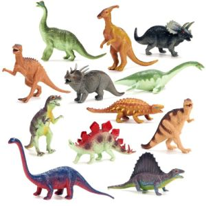 Dinosaur Toy Plastic Figures Set Of 12 Large With Names And Gift Boxed Co Uk Toys S
