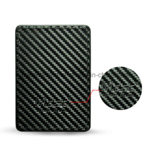 New Fashion Design Carbon Fiber Pattern PU Leather Card Holder pictures & photos