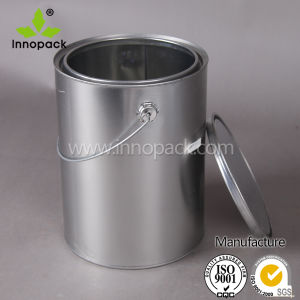 5L Metal Tin Can with Handle and Easy Open Lid pictures & photos