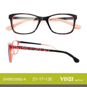 Spectacles Acetate Frames Glasses with Ce (62-C) pictures & photos