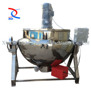 Stainless Steel Gas Heatting Jacketed Kettle