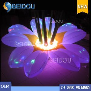 Wedding Party Events Stages LED Decorations Lighted Inflatable Flowers