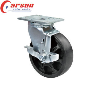 5 Inch Heavy Duty Swivel Caster High Temperature Wheel Castor with Side Lock Brake