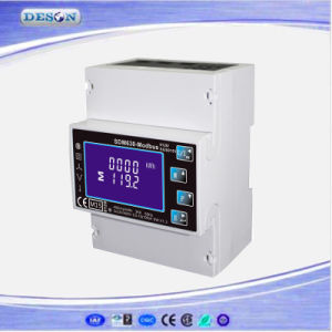 Single and Three Phase DIN Rail RS485 Modbus Household Watt Hour Power Meter Sdm630-Modbus pictures & photos