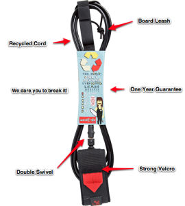 Recycled Material Custom Surfboard Leash, Surf Leash