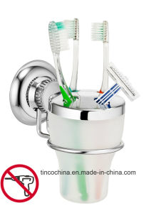 Suction Stainless Steel Toothbrush Holder Bathroom Set