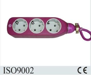 Factory Colorful Design European 3 Way Extension Socket pictures & photos