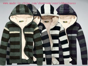 Men′s Knitted Hoody Sweater (0158) pictures & photos