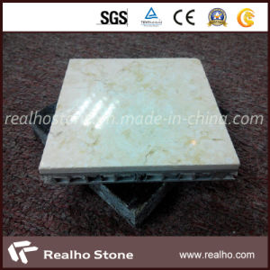 Exterior Wall Beige Marble Composite Tile with Aluminum Honeycomb