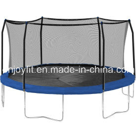 TUV Approved Trampoline with Safety Pad and Enclosure Net and Ladder
