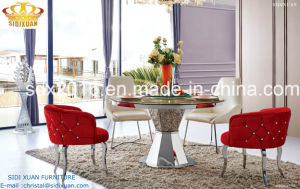 Round Marble Steel Base Table / Modern Dining Room Furniture (SJ818) pictures & photos