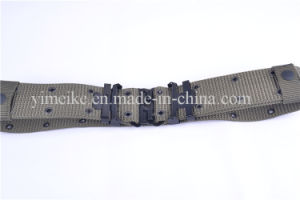 Men′s High Quality Military Canvas Army Fabric Plain Webbing Belt pictures & photos