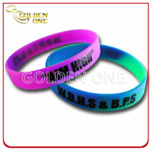 Cheapest Custom Swirled Printed Logo Silicone Wrist Band pictures & photos