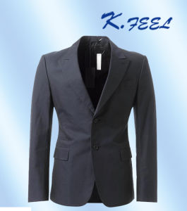 Wool Peak Lapel Double Breasted Suit Jacket for Men