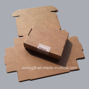 Hand Made Natural Brown Kraft Cardboard Paper Box Falp Packaging pictures & photos