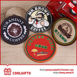 Cheap Customized Colorful Soft PVC Cup Coaster for Gift pictures & photos