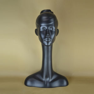 Matte Black Female Head Dummy for Hat Display pictures & photos