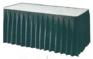 Classy Polyester Rectangle Banquet Table Skirt pictures & photos