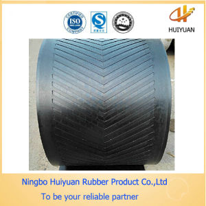 Incline (Chevron Cleated) Rubber Conveyor Belt pictures & photos
