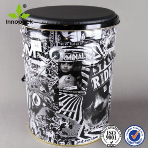 Big Printed Tinplate Pail Bucket with Ring Lock pictures & photos