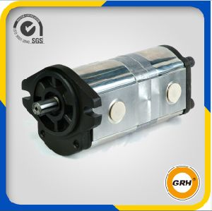 20cc+20cc Aluminum Hydraulic Gear Pump Double Pump pictures & photos