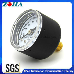 Miniature Back Connection General Manometer with Black Steel Case pictures & photos