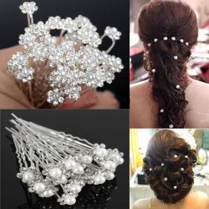 China Fashion Crystal Pearl Wedding Hair Pins Flower Bridal Pins Hair China Jewelry And Brazilian Hair Price