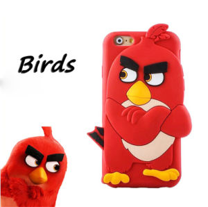 3D Bird Silicone Case for Huawei P8 P9 Oppo R9s R9splus Phone Accessories (XSDW-051)