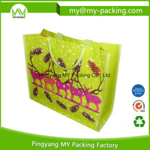 Reusable Shopping Bag Woven Fabric PP Promotion Bag with Pouch pictures & photos