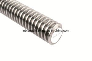 Precision Roller Trapezoidal Thread Rod Open Screw Lead Screw Tr30X6 pictures & photos