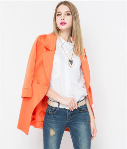 High Quality Women′s Long Winter Coat for Ladies pictures & photos