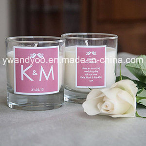 Personalized Scented Soy Candle in Glass Jar