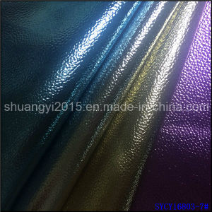 PU Leather for Shoes Bags Hot film Emboss pictures & photos