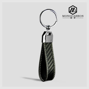 Colorful Stitching Fashion Jewelry Best Quality Real Carbon Fiber Key Ring pictures & photos
