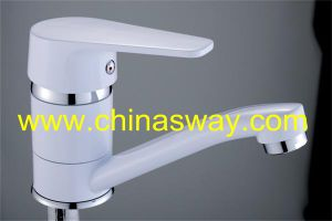 Artistic Wash Basin Faucet, with Movable Spout, White (SW-55000S-Q1) pictures & photos