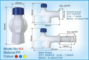 Plastic Water Dispenser Tap with PP (W4) pictures & photos
