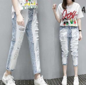 d4ba70855ae0b High Waist Stock Women Denim Jeans Nice Washing Fashion Apparel Jeans for Women  Casual Ripped Jeans