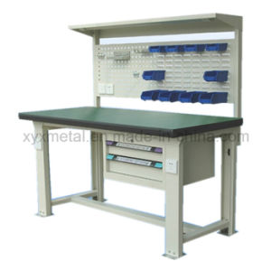 Workbench with Steel Cabinet Drawers Tools Wall Board and Light pictures & photos