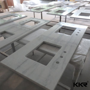 Prefab Solid Surface Marble Stone Bathroom Vanity Top pictures & photos