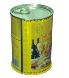 401# Standard Size Tin Round Can with Easy Open Lid
